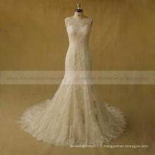 Fabulous Mermiad Robe de mariée en dentelle en tulle avec train chapelle