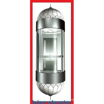 Панорамный лифт с зеркалом Потолок из нержавеющей стали с 1 вентилятором, светодиодные мягкие фары, 4 комплекта