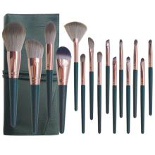 China professional manufacturer Vegan synthetics rose gold wholesale makeup brush set