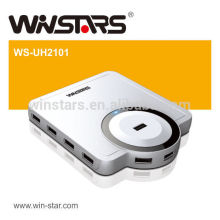 480 Mbps USB 2.0 10 ports HUB avec adaptateur secteur, fabriquer un USB HUB propulsé, prendre en charge les périphériques USB 1.1 et USB 2.0.