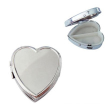 Caja de plata en forma de corazón de la píldora del metal (BOX-10)