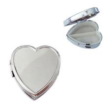 Silver Heart-Shaped Metal Pill Box (BOX-10)
