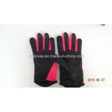 Guante de trabajo-guante de silicio-deporte guante de jardín-guante de mano-guante de PVC punteado