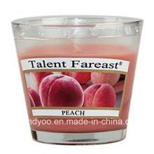 Bougie parfumée de soja de pêche en verre