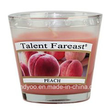 Peach Soy Scented Candle in Glass