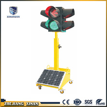 LED light source portable solar signal light