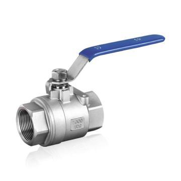 Válvula de esfera de aço inoxidável com rosca 2PC