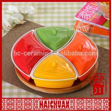 Porzellan runder Teller Design Bakeware & runde Spitze palte
