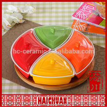 Porcelain round plate design bakeware&round lace palte