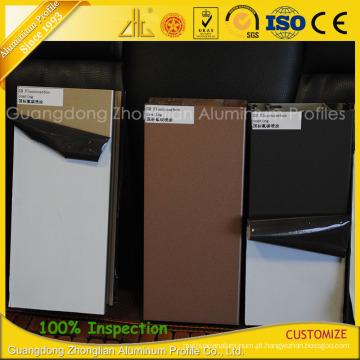 Extrusões de alumínio do revestimento do fluoreto do GB para a decoração exterior das mobílias
