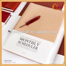 Fornecedor da China A4 caderno de agendamento mensal para vendas por grosso
