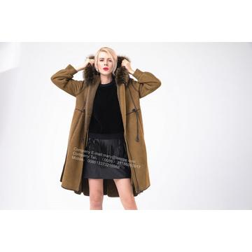 Spanien Merino Shearling Coat With Motif
