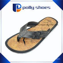 Mens Leather Upper Strap Flip Flop Sandals Size 9