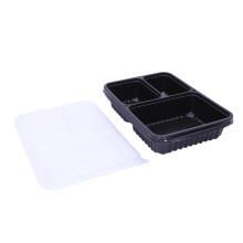 Compartimento para llevar fiambrera de plástico bento desechable