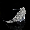 Silver rhinestone pageant handmade custom and crown headpiece bridal wedding crystal