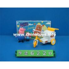 Juguetes promocionales Cerdo de plástico blando con carro de transferencia (926220)