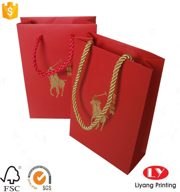 red small gift bag