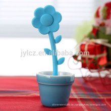 Werbe Blumen Großhandel Silikon Teesieb Mit Keramik Tidy Topf