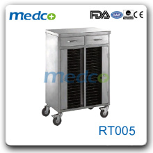 RT005 record cart stainless steel cart with 40 shelves