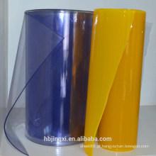 Folha de cortina de PVC macio colorido / rolo
