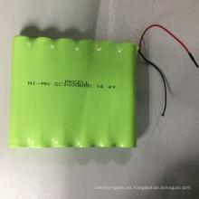 Paquete de batería recargable 3000mAh NiMH SC3000 14.4V con cable