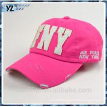 Unisex baseball cap and washed custom logo make in china