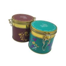Bloqueo Metal Café Té Estaño Conatainwe Tin Box Venta al por mayor