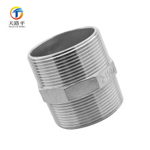 High Quality Straight pipe fittings double thread screw 2-150