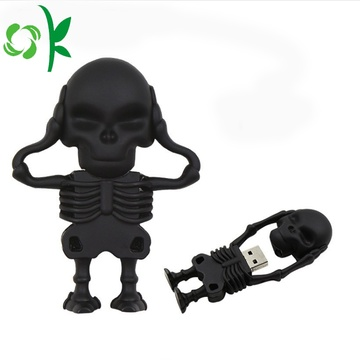 Cool Skeleton Knight Siliconen Zachte USB Stick Cover