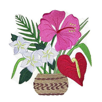 Aloha Bouquet Ricamato Iron on patch