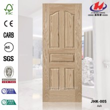 JHK-005 Hot Sale 3.7mm Carb Five Panels Veneer HDF/MDF Oak Door Skin  Quality Assured