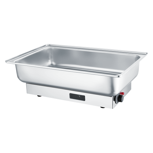 Oblong Roll Chafing Dish aus Edelstahl mit Dampfgarer