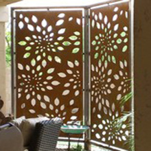 Decorative Laser Cut Outdoor Metal Screen