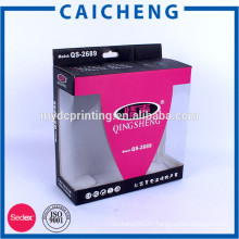 Professional logo printed color corrugated box price for headphone