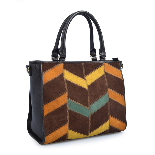 New European and American women's joint bag color contrast