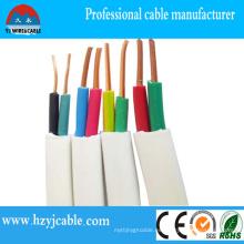Alambre de cobre sólido del cable de la envoltura plana