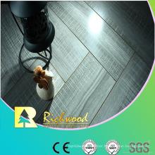 12.3mm Mirror Oak Water Resistant V-Grooved Laminated Floor