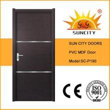 Черный орех ПВХ шпон двери с алюминиевой полосы (СК-P190)