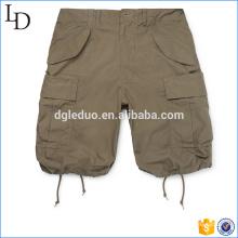 Slim-Fit algodão-Ripstop Shorts de carga por atacado mens 3/4 shorts estilo
