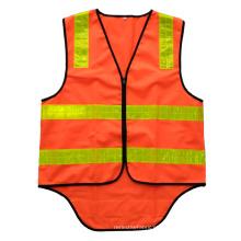 Chaleco de seguridad fluorescente naranja Australia con cinta reflectante de PVC