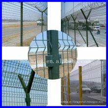 Cerca de segurança do aeroporto com post Y e arame farpado