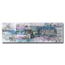 Peinture à l'huile abstraite décorative à la main 100% à la main