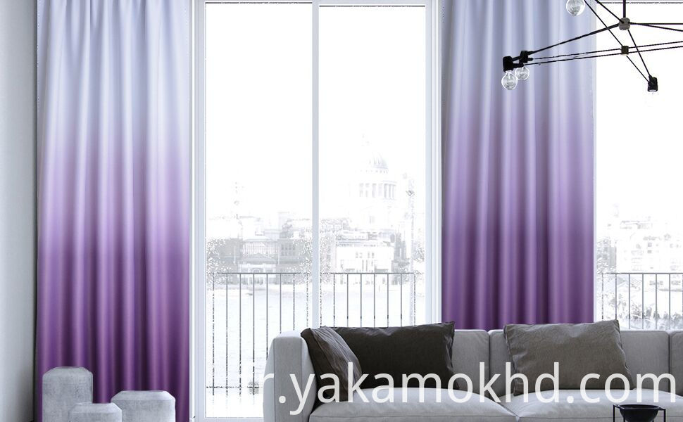 84 Inche length ombre curtains