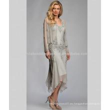 Elegante de manga larga de bodas nupcial pantalones de gasa pantalones de vestir para la madre de los trajes de la novia pantalones MM918