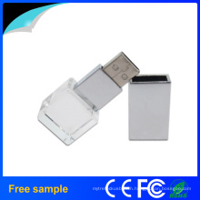 Promotional Gift Quadrangle Logo Engraving Crystal USB Disk