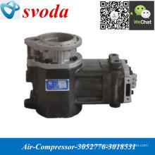 Compresor de aire 3052776/3018531 para piezas de descarga de TEREX Camión de motor NT855 K19 K38 K50 M11