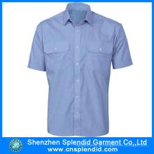 Uniformes baratos da segurança do algodão 2016 dos homens do Workwear do verão