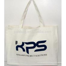 натурального хлопка холст хозяйственная сумка для промотирования