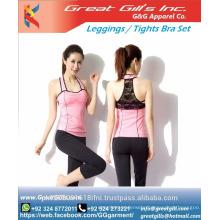 Sportswear OEM service yoga set in fitness women yoga pants/sport bra leggings