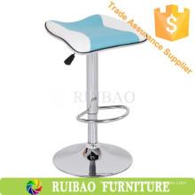 Modern Kitchen Counter Bar Stools Leather Bar Stool Saddle Seat High Chair